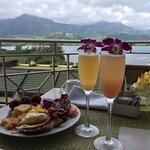 Delicious brunch at the Makana Terrace.