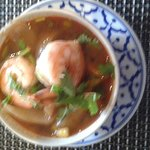 Golden prawn parcels & tom yum