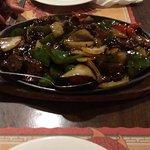 Sizzling beef with black bean & garlic sauce