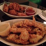 Chicken wings and chicken strips