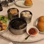 Delicious dim sum features various foods from seafood to chicken.