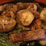 Seafood fajita with the most delicious scallops!
