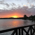 Bungalow Ate: magnificent sunset over the lagoon. Magical views