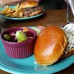 Slaw burger and Culpepper burger