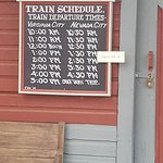 Train times. The train will take you to Nevada City. Go to the hotel for an awesome coffee!