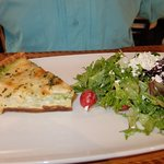 Suzannes quiche & salad with fabulous dressing