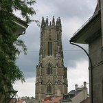 The cathedral's tower is THE Fribourg landmark