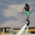 Jet Pack - Emil was awesome! Could do the jet pack AND operate the jet ski by himself!