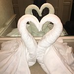This hotel does a little something special with the towels!