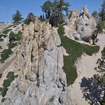 Dramatic stone formations along tram route