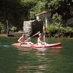 Locals kayaking