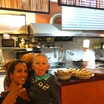 Our great waitress with my son - Thanks Ibi!