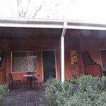 Chambres avec la terrasse séparée avec des paravents