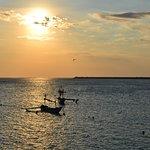 coucher de soleil , plage de Jimbaran