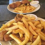 Platter for 1 and fish and chips