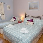 Bright and quiet bedrooms with a relaxing colour scheme