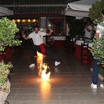 Fire Dancning at Zorbas