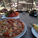 Pizza is tasty, if weather good!