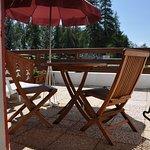 Terrasse Hôtel Chalet Suisse en été