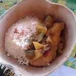 Très bon plat du jour, le Colombo de Poulet !