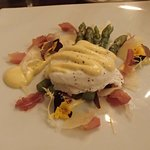 Asparagus & poached egg as starter