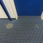 Carpet stains in the passage