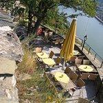 Terrasse mit Blick auf den Rhein