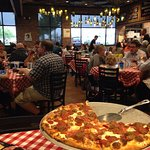 "Grimaldi's pizza. The ""Don"" in the foreground"