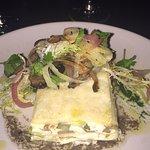 Artichoke, Trumpet mushroom white lasagna with truffle oil!