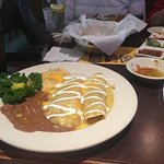 enchilada combo plate