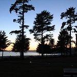 Sonnenuntergang von unserer Terasse aus