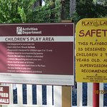 sign in front of playground