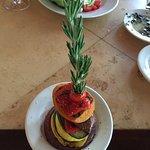 Roasted veggie stack at Salt Rock Grill