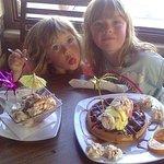 Waffles and ice creams