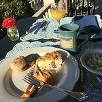 Breakfast on the Five Gables porch