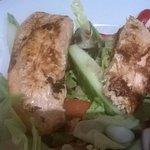grilled salmon salad yummy