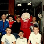11th birthday curry with friends and Angus the Bull