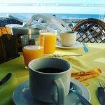 en el desayunador