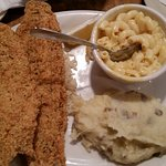Catfish and meatloaf