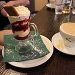 Dessert at The Waverley Hotel, Callander, Scotland