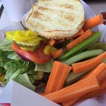 Cheese Burger with fixings