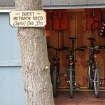 The guest activity shed has all your outdoor needs!