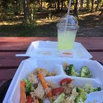 Delicious food with the perfect view! Love, love, love the ladies at the Thai food truck! ❤️