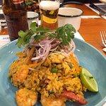 Arroz con mariscos, plato riquísimo y porción abundante