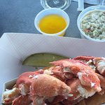 Jumbo lobster roll with butter