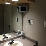 Room #114-The bathroom even had its own TV.