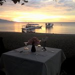 Beautiful sunset and romantic dinner...