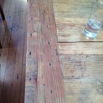 Wood table detail