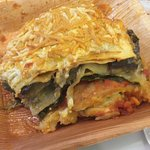Vegetable lasagne with SOOOOO many vegetables, very tasty and cheap too, perfect!