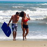 Boogie boarding with your lover <3